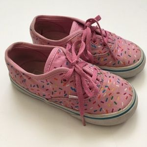 Vans Girls Lace Up Pink Sneaker Size 9.5